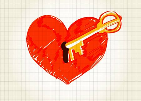 two hearts: Key is opening the heart