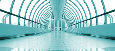 symmetric bright metro station corridor Stock Photo - 11260070