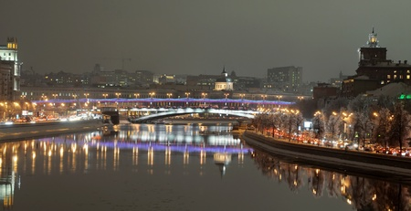 Night view of Moscow. Russia photo