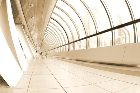 clean commercial: Perspective view of a long corridor Editorial
