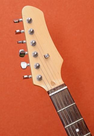blues music: Electric guitar closeup detail