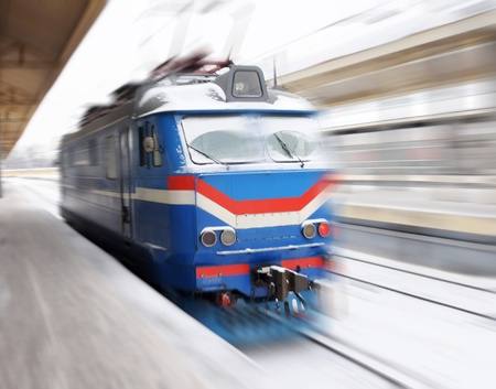 Diesel-electro train on the way Stock Photo - 11260011