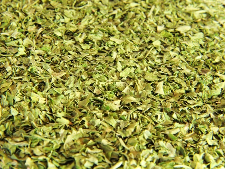 dried herbs: Green leaves background