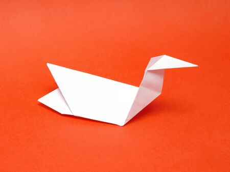 folded paper: Origami bird