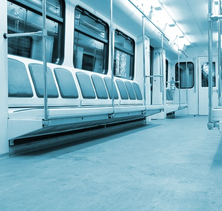 commuter: modern train interior