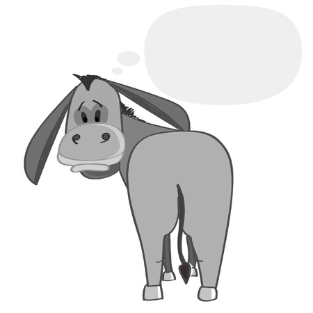 donkey: Jack denken Stock Illustratie