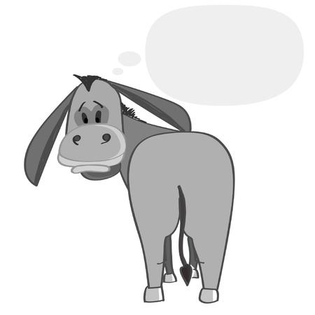 burro: Jack pensamiento Vectores