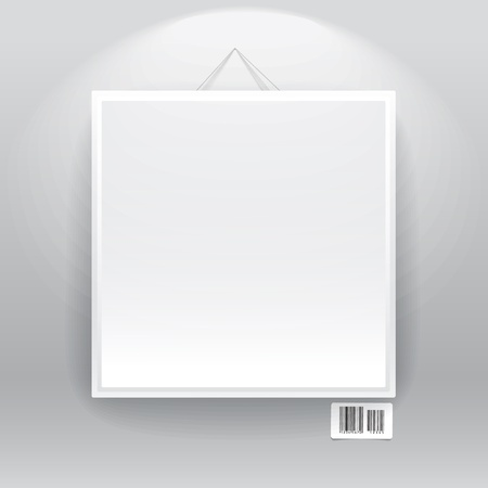 Blank frame on the wall with barcode sign. ready for your text Stock Vector - 11319528
