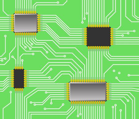 electrical part: Seamless chip background Illustration