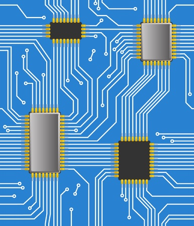 semiconductors: Seamless computer chipset background