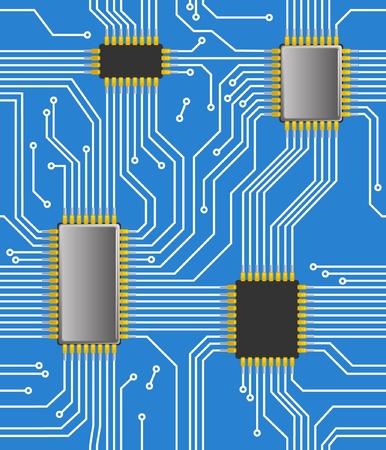 chipset: Seamless computer chipset background