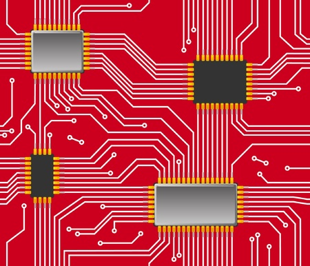 Seamless chip background Vector