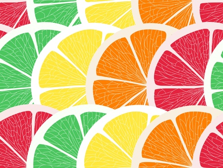 Citrus assorted seamless background Vector