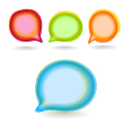 Set of round colour blur talk bubbles Vector
