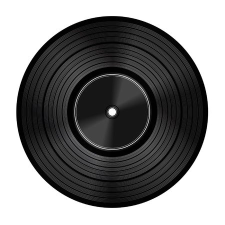Vinyl audio disc  Illustration