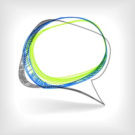 hablando: Antecedentes de la burbuja abstracta hablar Vectores