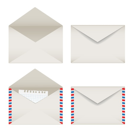 email lists: Opened and closed envelopes set