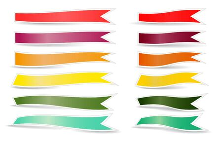 Decorative color ribbons. Different sizes Vector