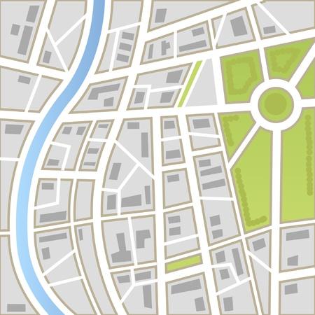 Achtergrond van plattegrond van de stad Vector Illustratie