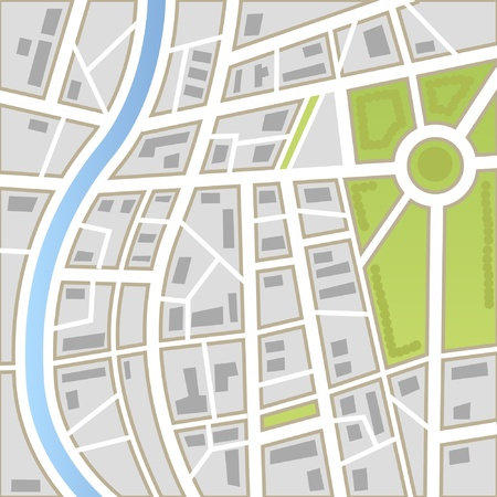 geography map: Background of city map Illustration