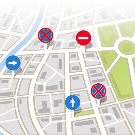 Bối cảnh của bản đồ thành phố
