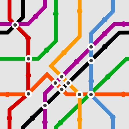 Color metro scheme seamless background Vector