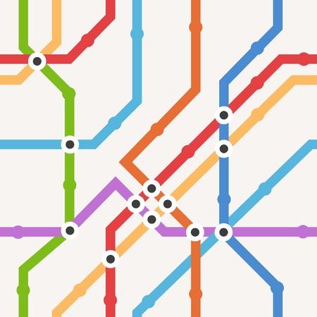 subway station: Color metro scheme seamless background