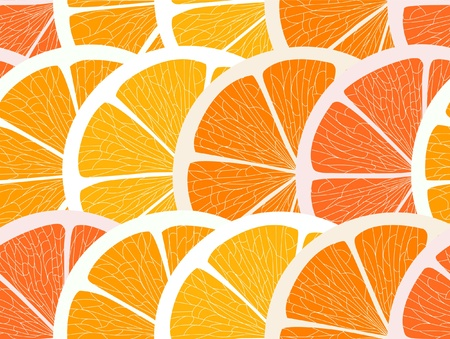 segments: Citrus segments seamless background Illustration