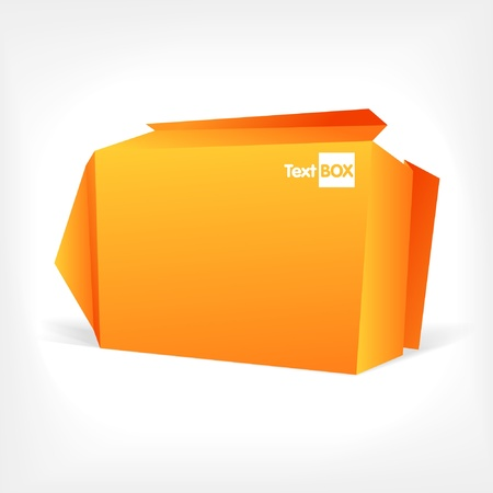 Background of polygonal origami box. You can place your text on it