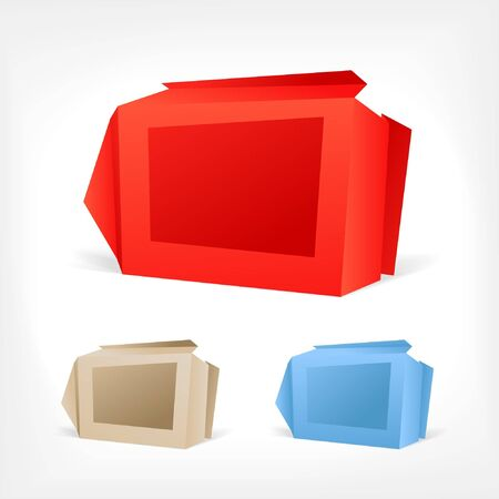 Background of polygonal origami boxes. You can place your text on it Vector