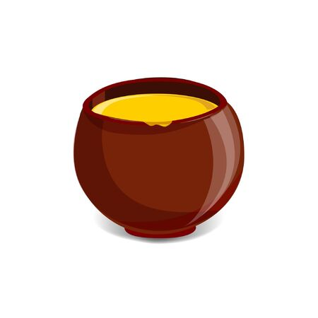golden pot: Pot full of honey Illustration