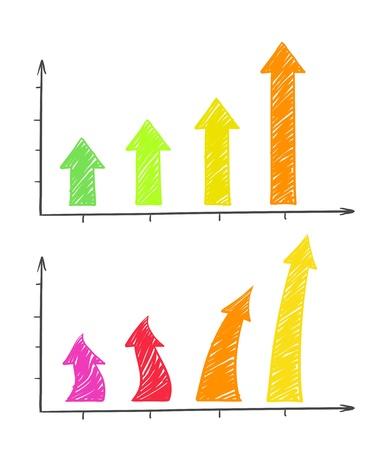 bargraph: Hand-drawn arrows diagram