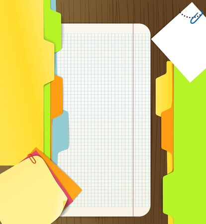 Background of paper sheets Stock Vector - 11319888