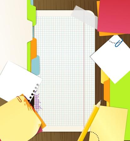 재료: 사무실 물건의 배경