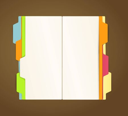 file: Copy-book on a table vector template Illustration