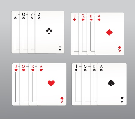 playing cards set Vector