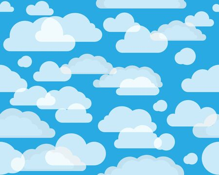 Clouds on green-blue sky. seamless background Vector