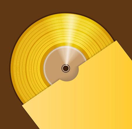 Golden CD prize  Vector