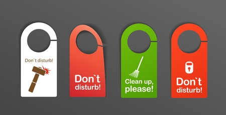 do not disturb sign: Door`s signs