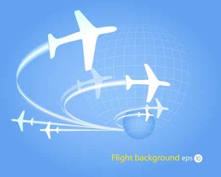 Flying planes Stock Vector - 11319899