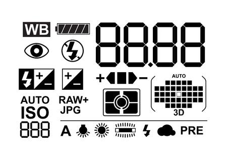 iso: Photo symbols collection