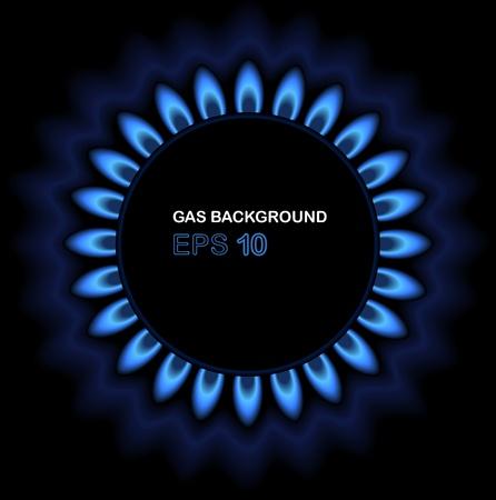 gas flame: Gas fiore illustrazione
