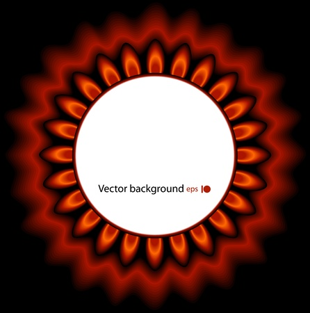 Background of red flame Vector