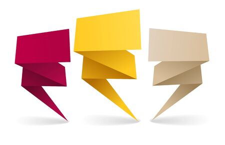 your text here:  Colorful polygonal origami banners. Place your text here Illustration