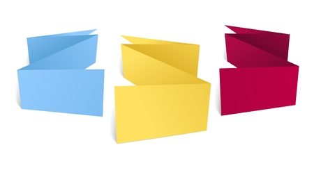 your text here:  Color polygonal origami banners. Place your text here
