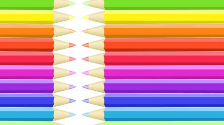 wright: Seamless background of colored crayons Illustration