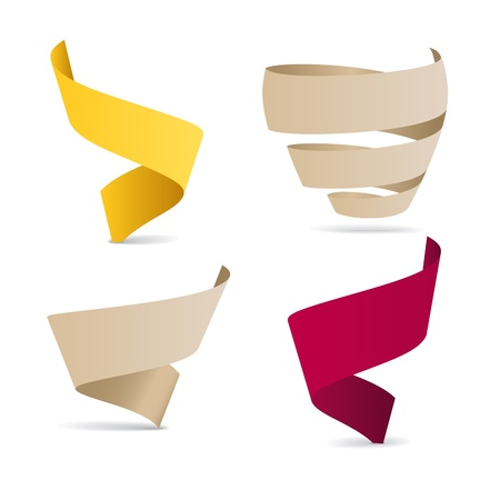 Color origami ribbons. Place your text here Vector