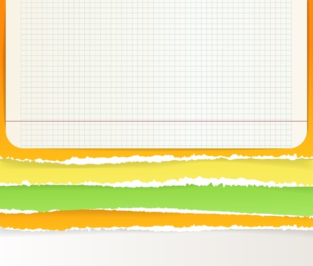 Backgrounds of divided color paper Vector