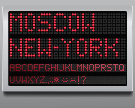 digital clock: Information board  Stock Photo