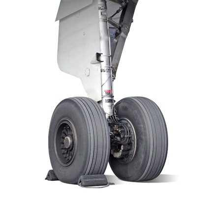 airplane landing: Airplane wheel